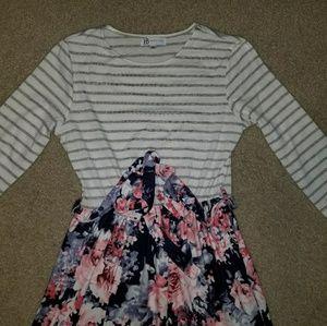 3/4 sleeve maxi dress